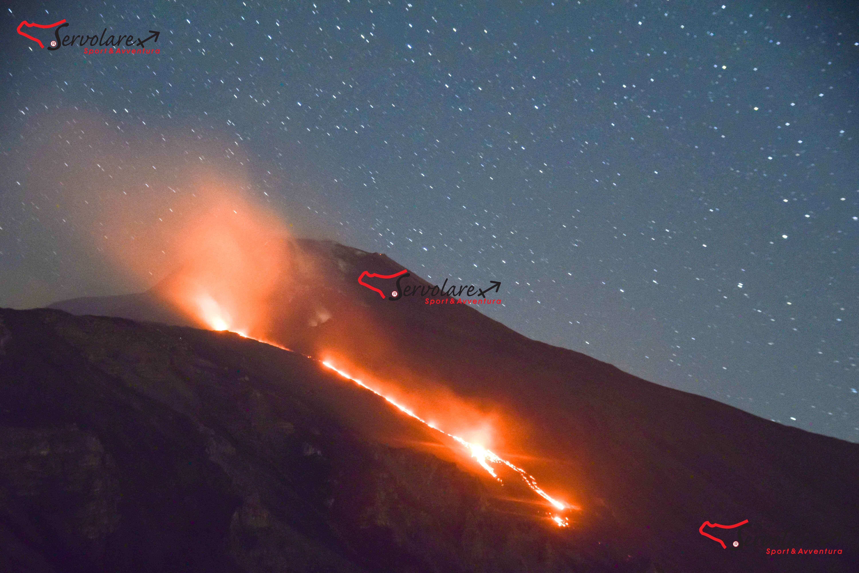 Servolare escursione etna in eruzione 3 giugno 2019